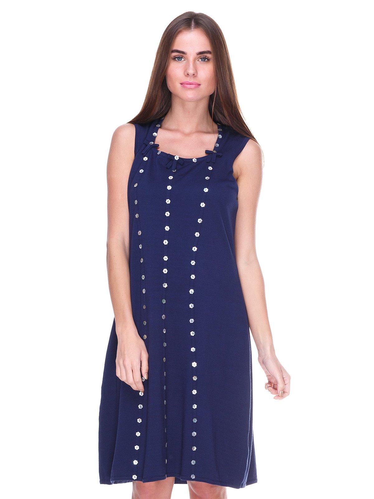 Платье темно-синее | 2316429