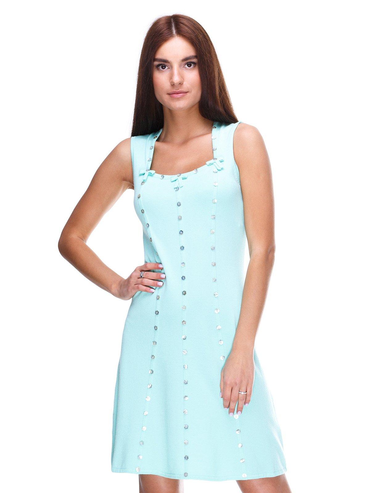 Платье ментолового цвета | 2316428