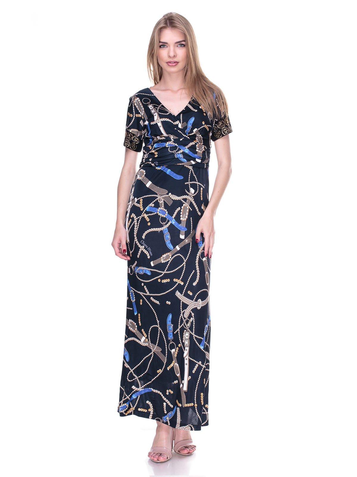 Сукня чорна в принт   2317038