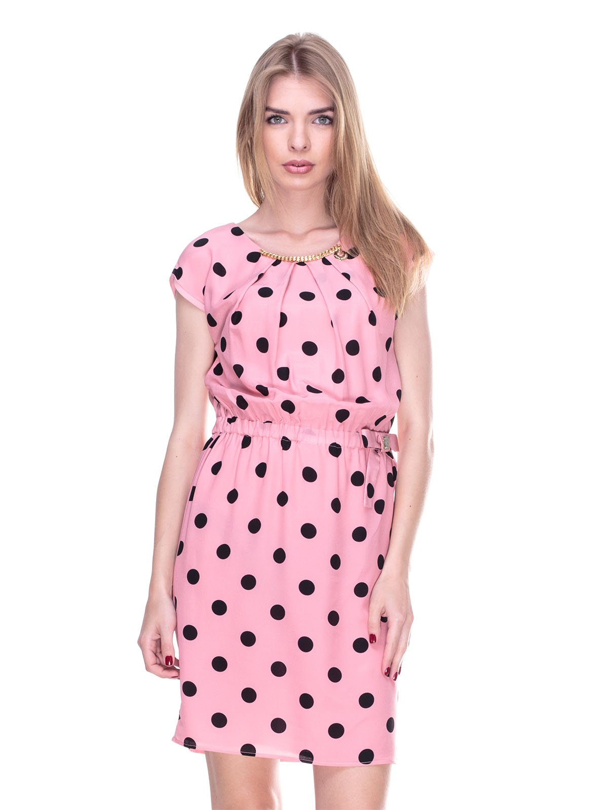 Платье розовое в горох | 2317148