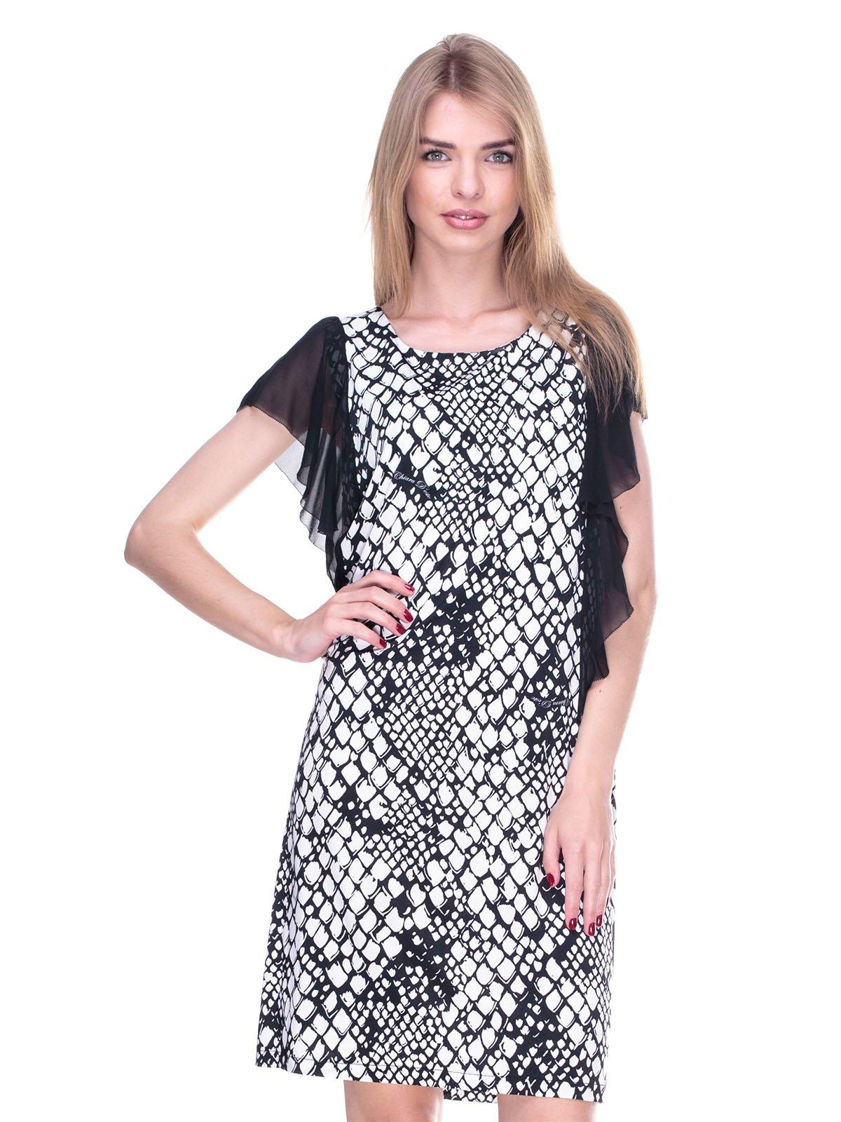 Платье черно-белое в принт | 2317114