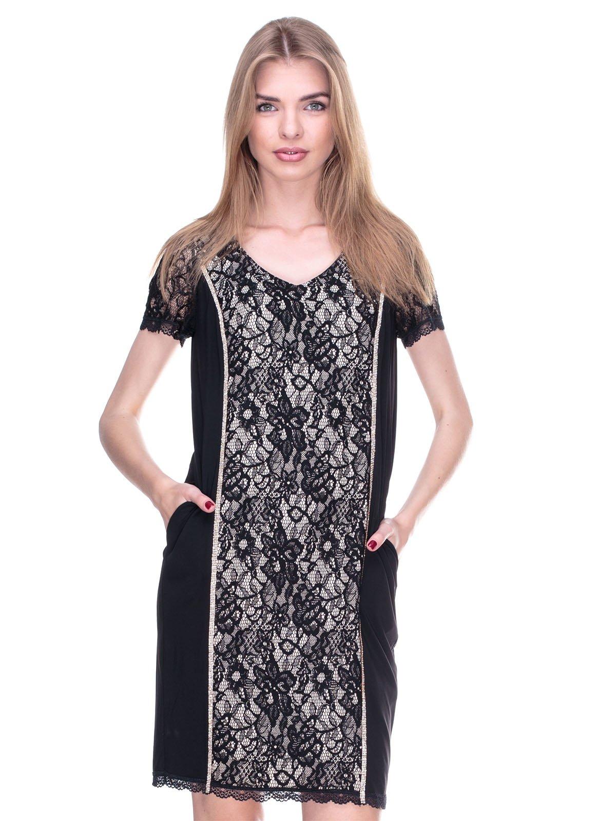 Платье черно-бежевое   2317090