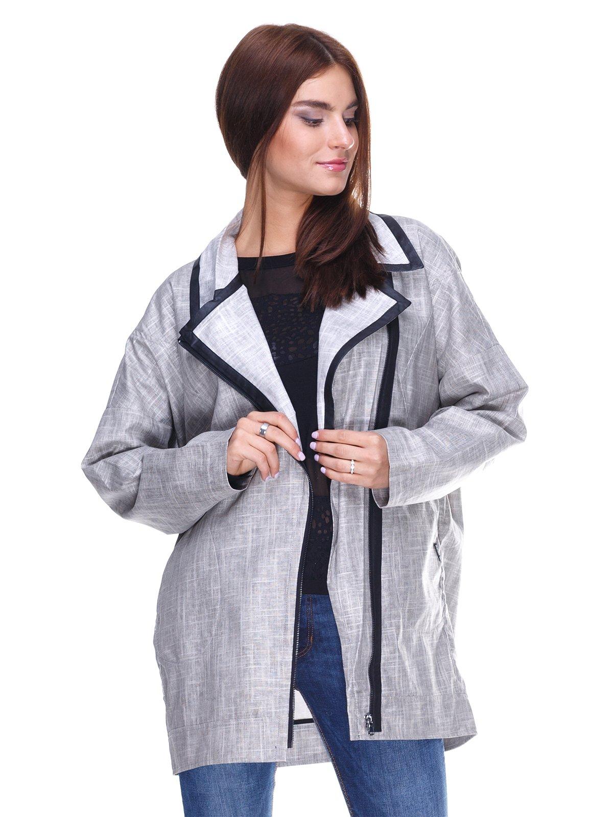 Куртка сіра | 2324835