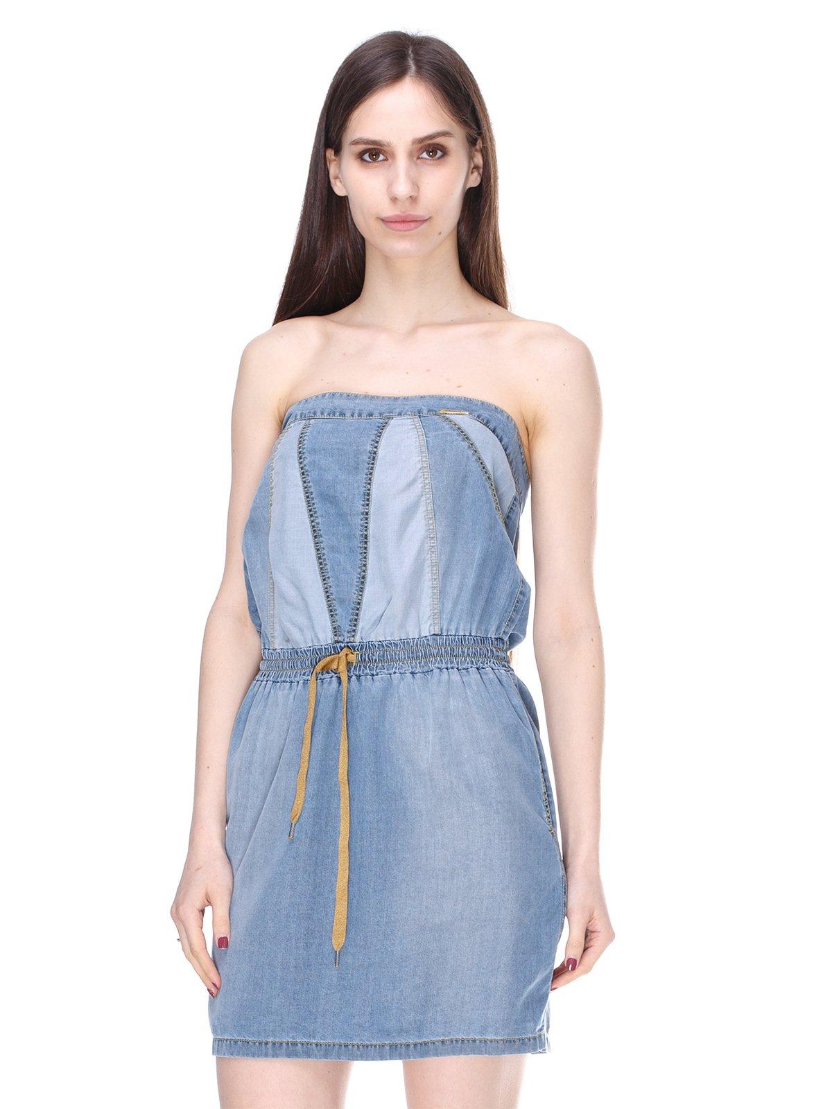 Сукня-бюстьє синя | 2324825