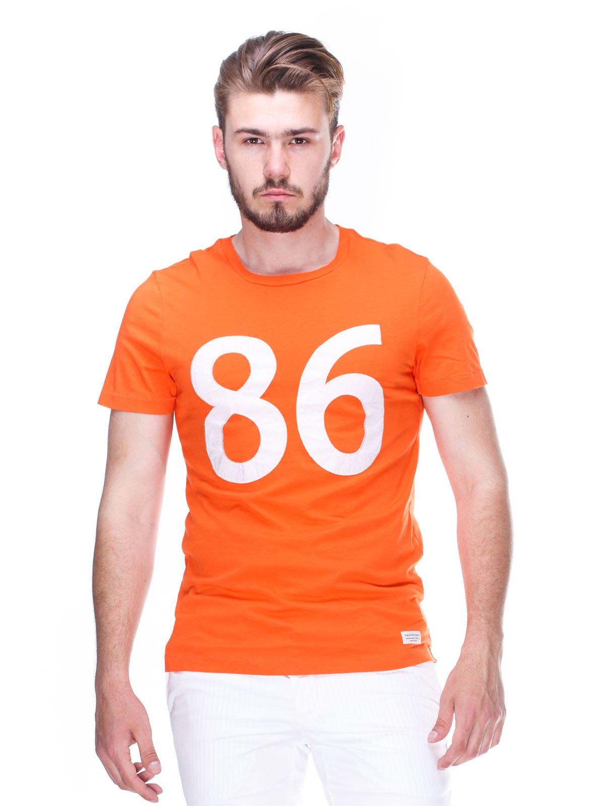 Футболка оранжевая с принтом | 2329239