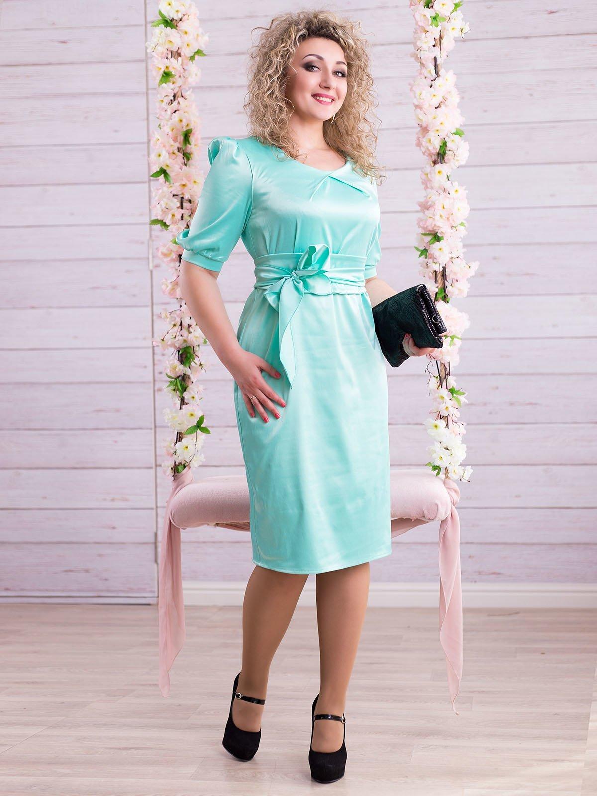 Платье мятного цвета | 2345675