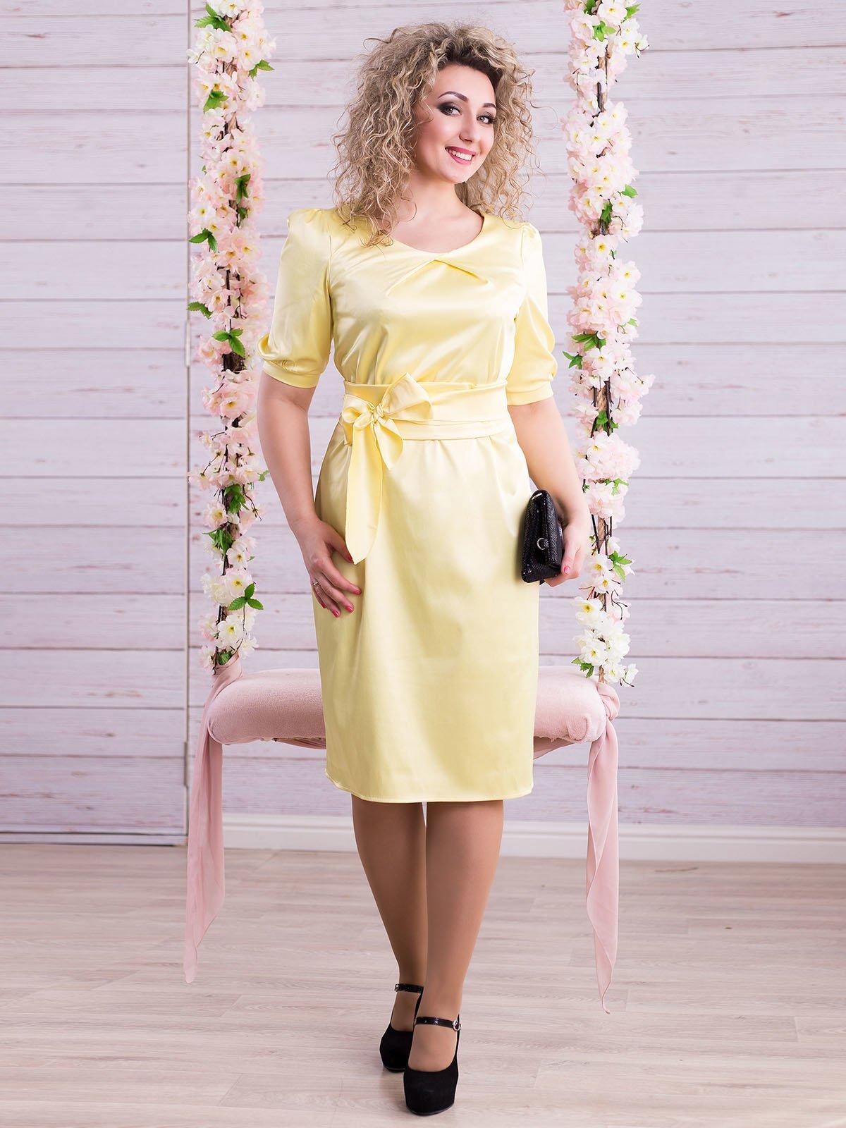 Платье желтое | 2345677