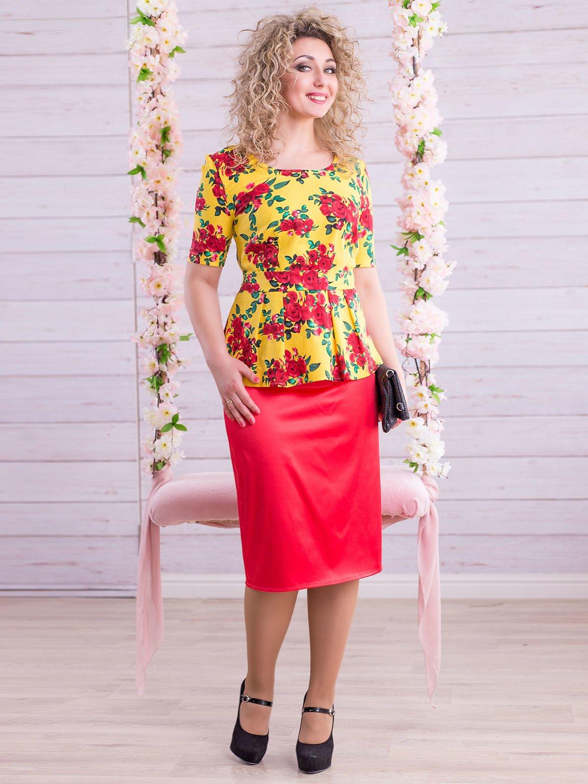 Костюм: блуза и юбка | 2345686