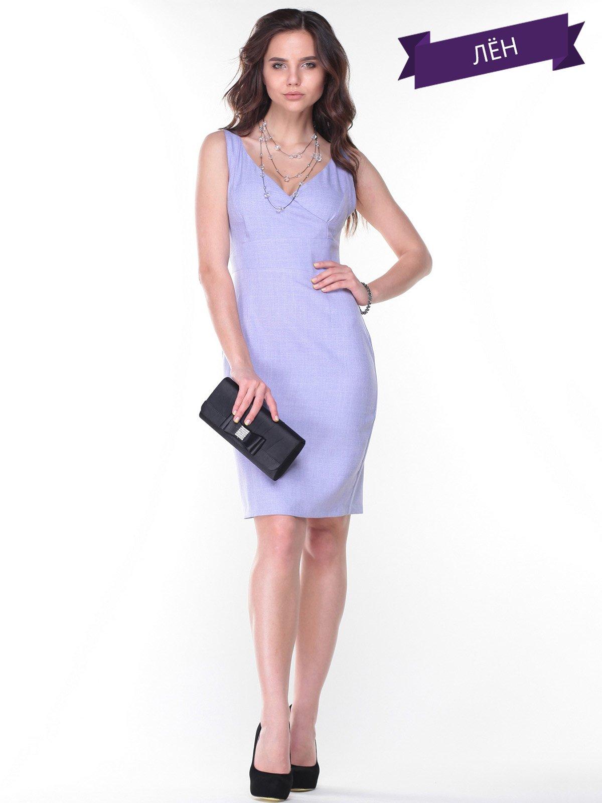 Платье-сарафан сиреневое | 2345592