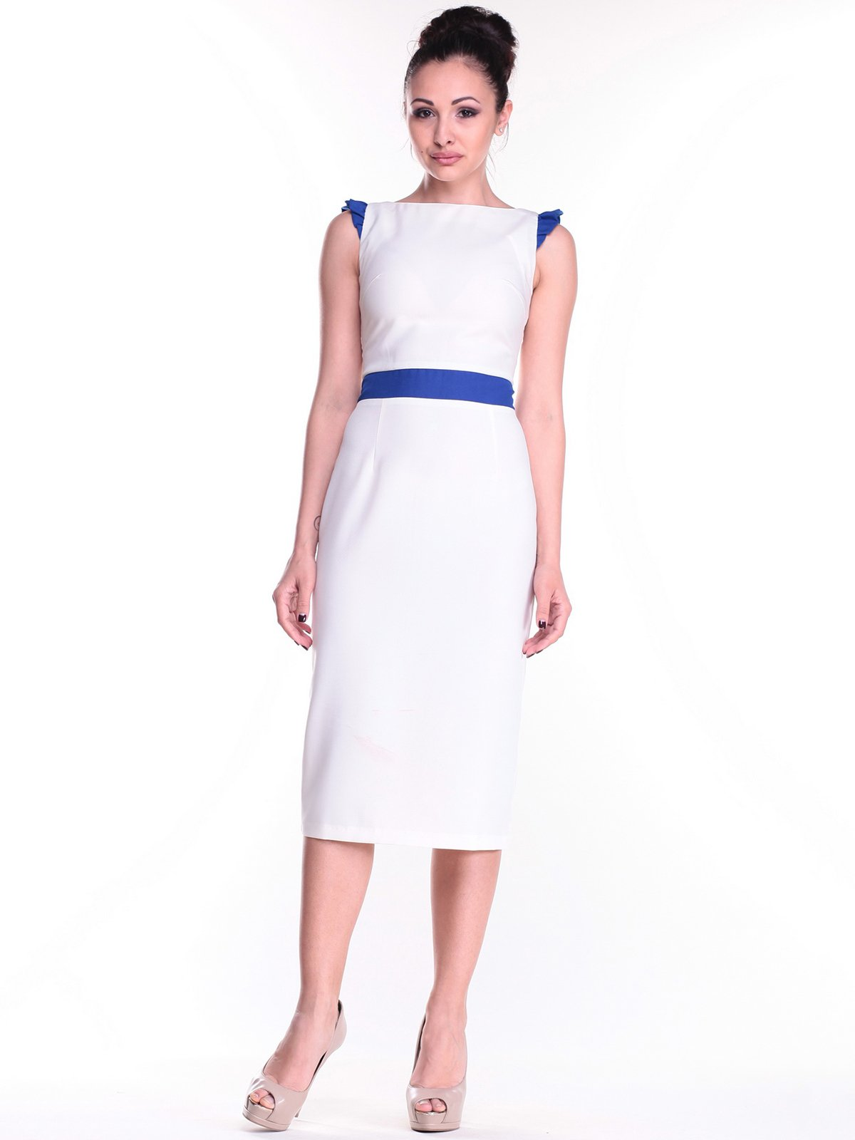 Платье молочно-синее | 2318271