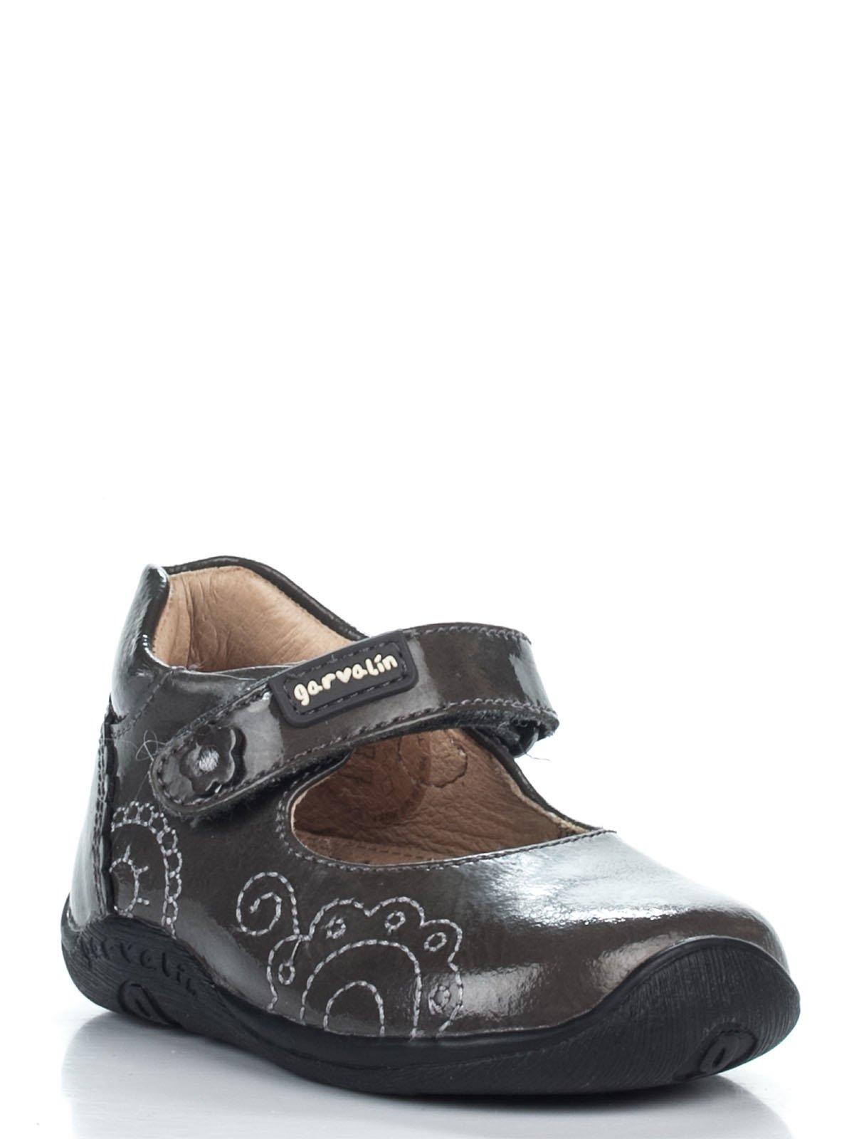 Туфли серые с вышивкой | 2361630