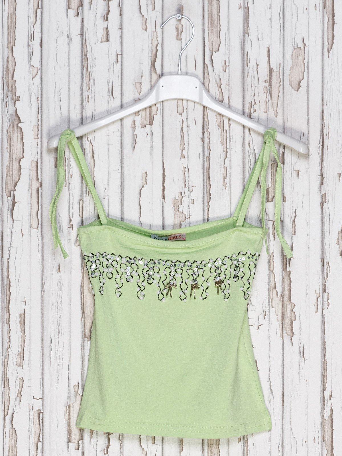 Топ зелений з декором | 2330932