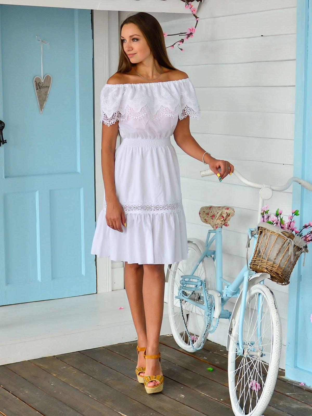Сукня біла з вишивкою | 2285314