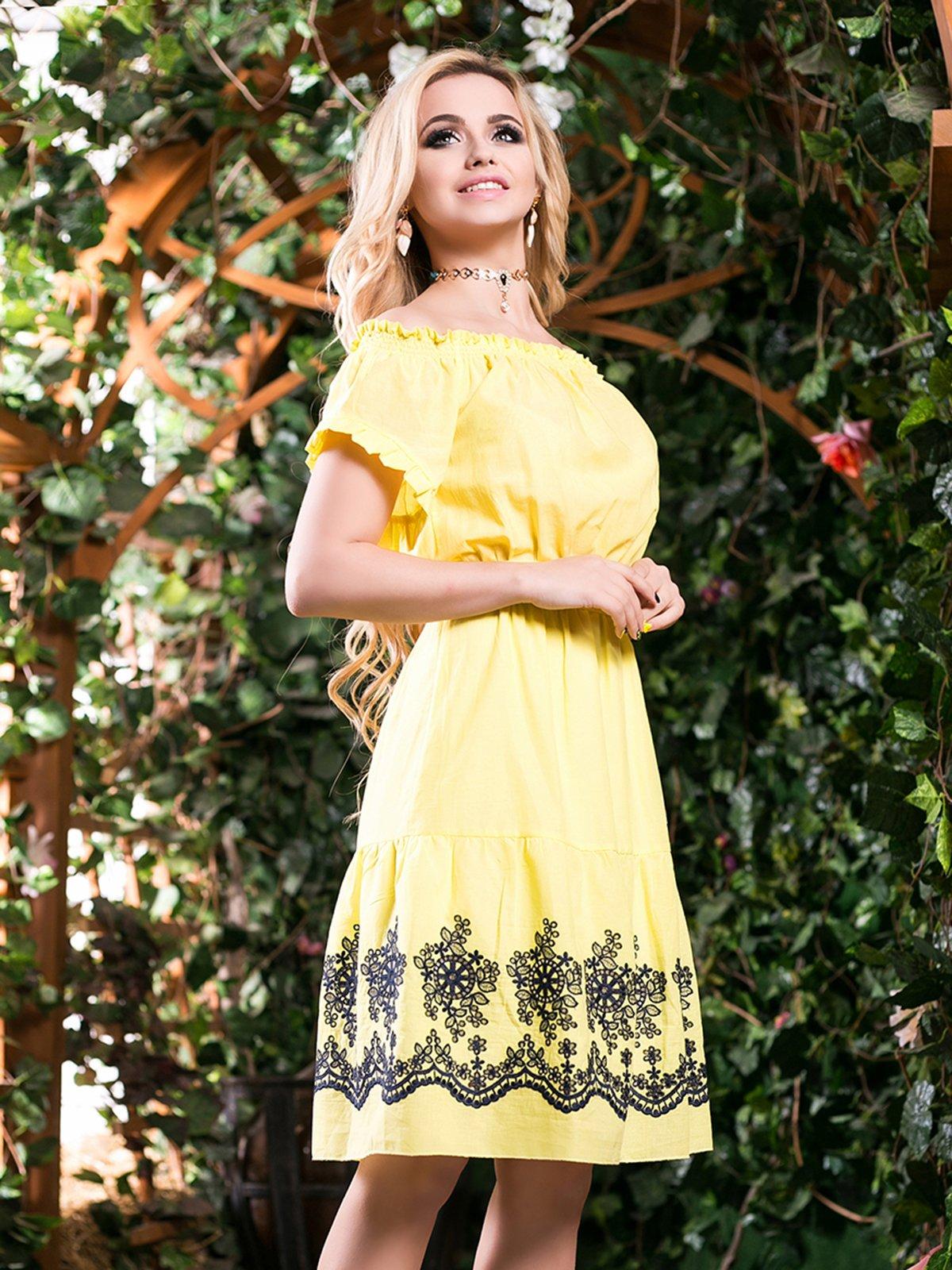 Сукня жовта з вишивкою | 2401692 | фото 2