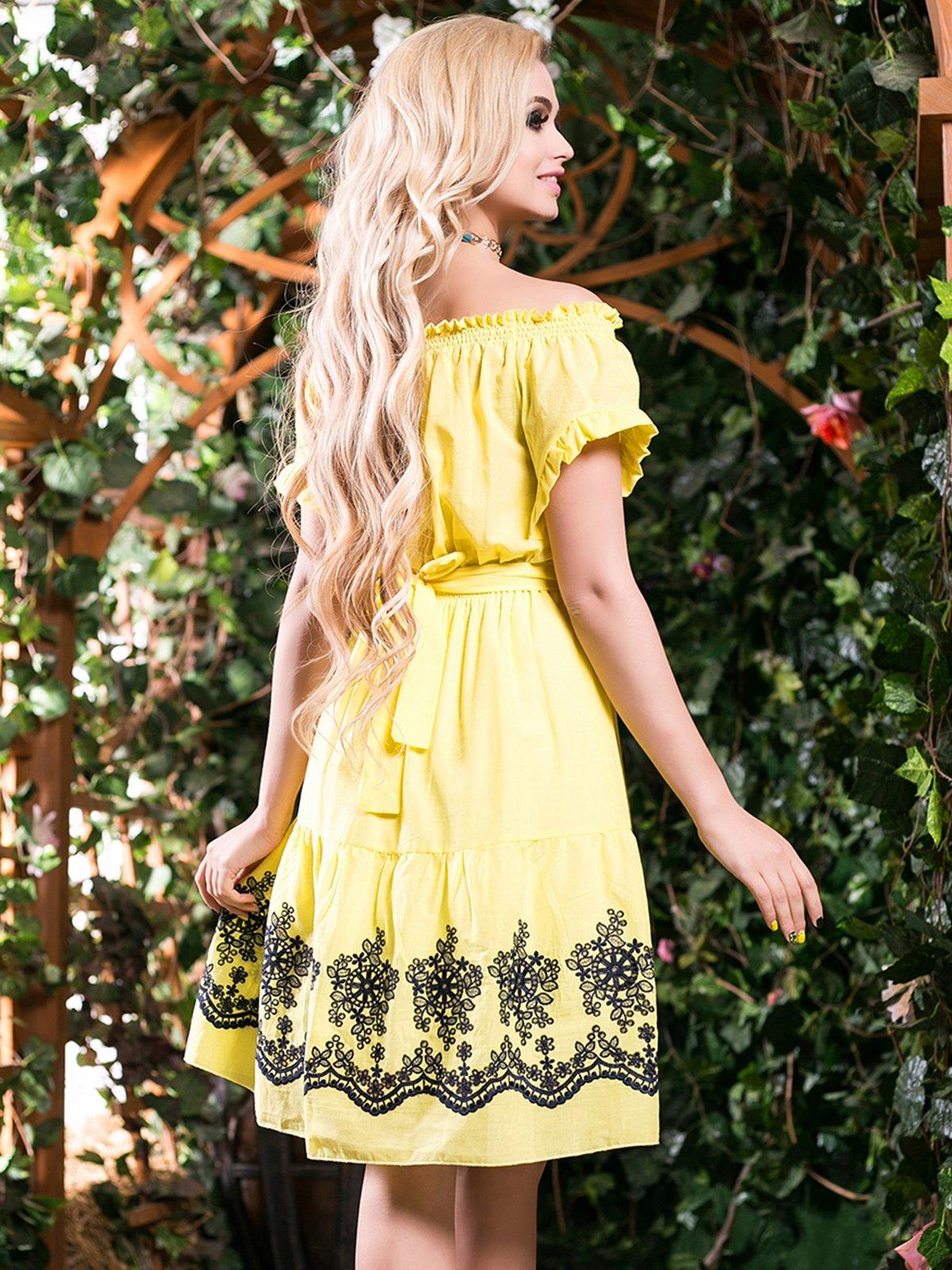 Сукня жовта з вишивкою | 2401692 | фото 3