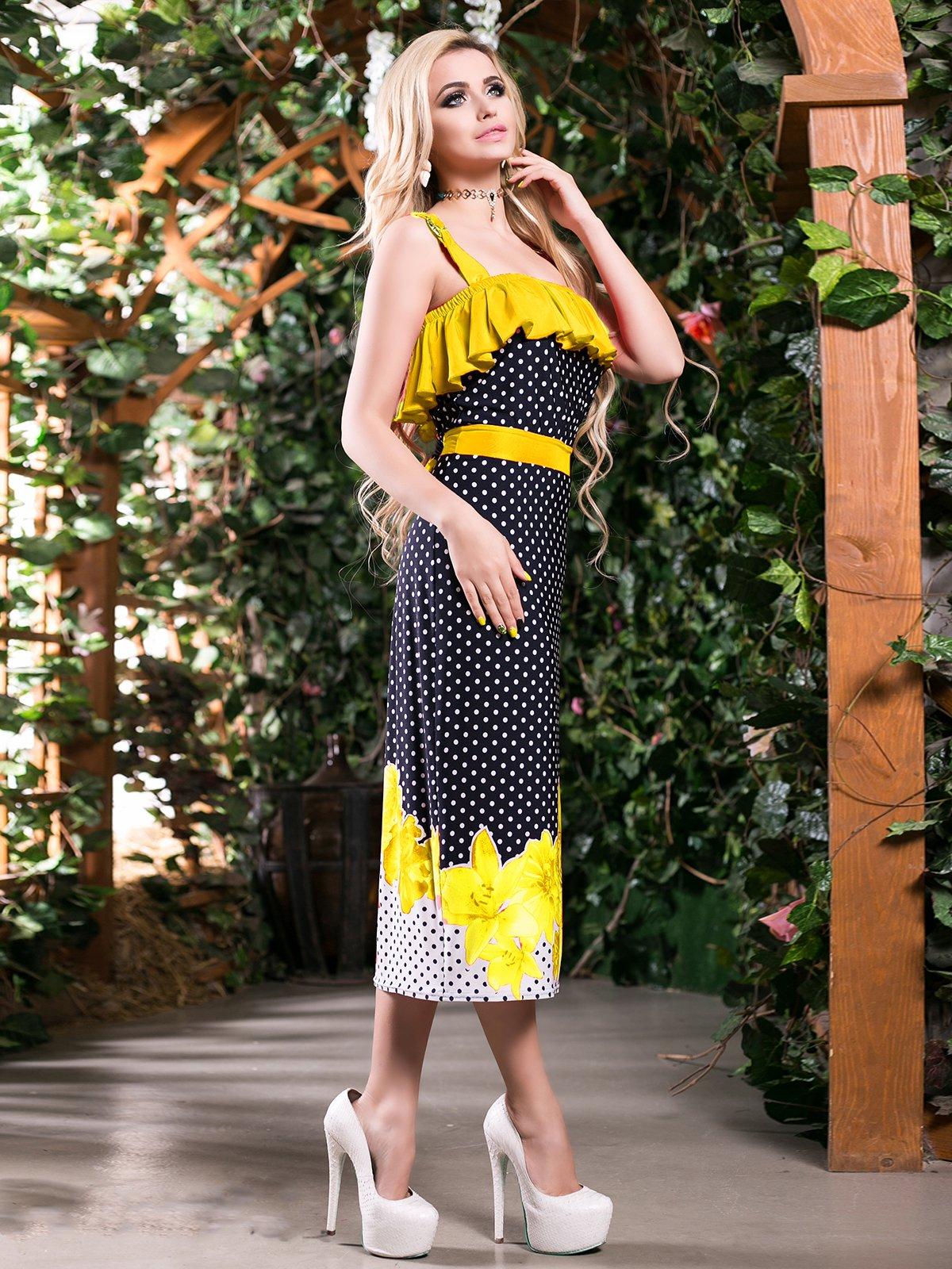Сукня триколірна комбінованого забарвлення   2401709   фото 2