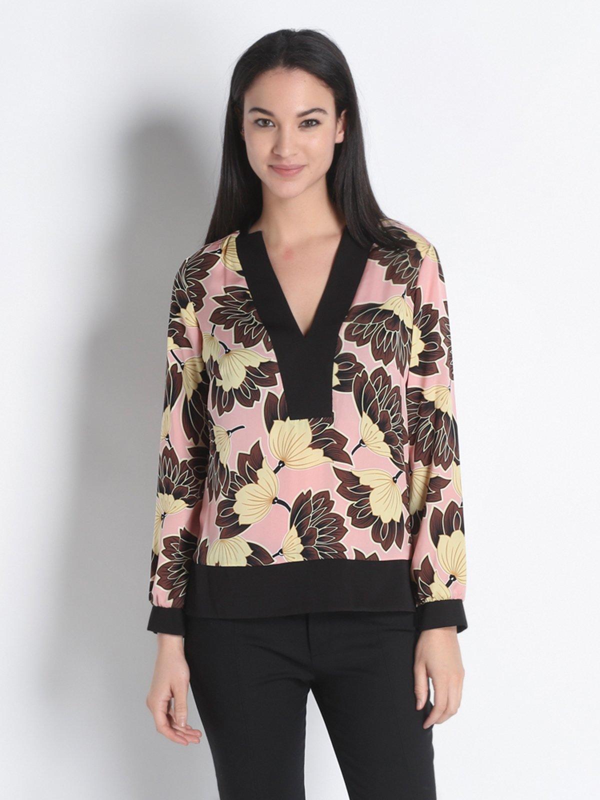 Блуза цветочной расцветки   2197421
