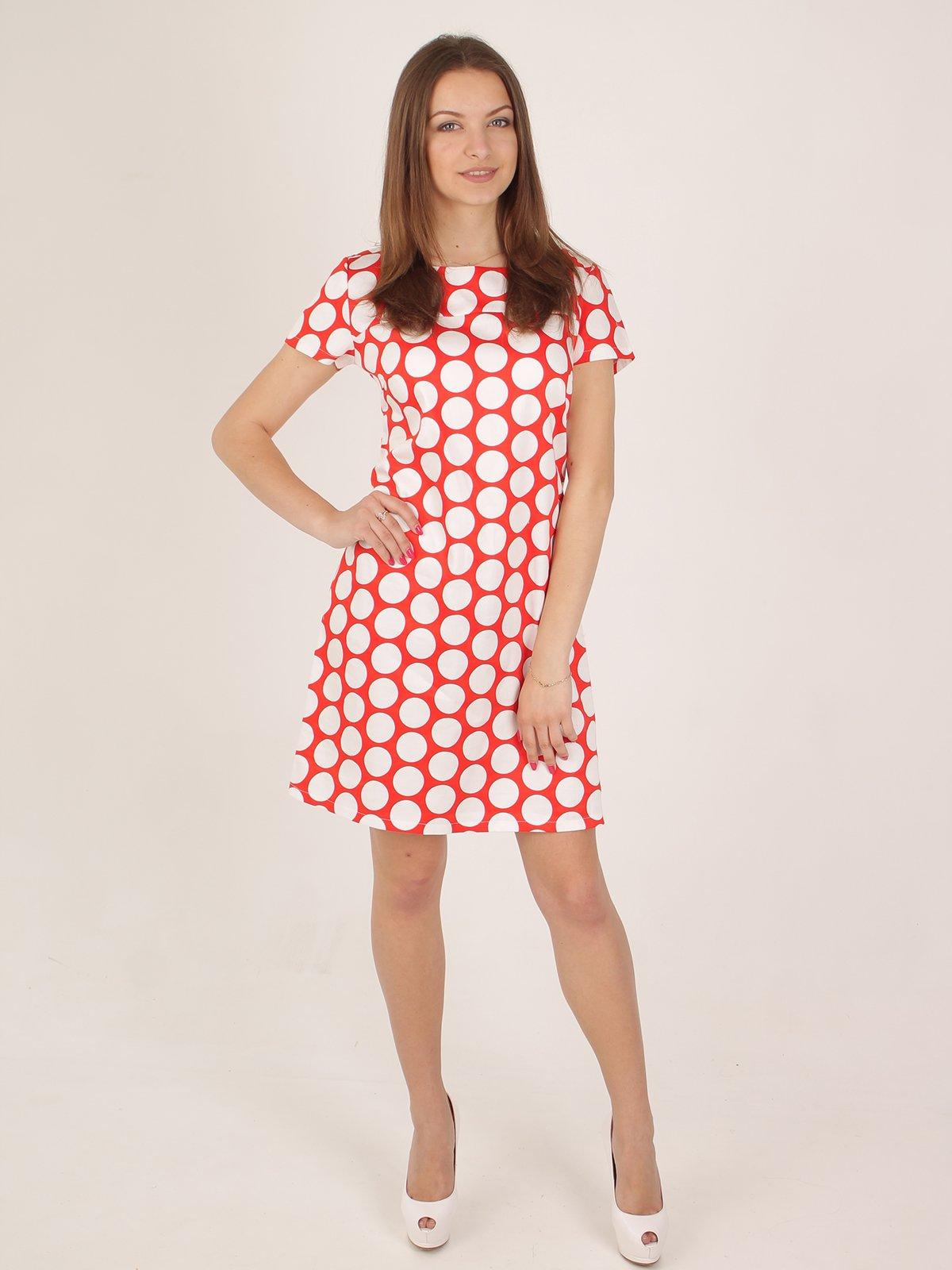 Платье оранжевое в горох | 2416748