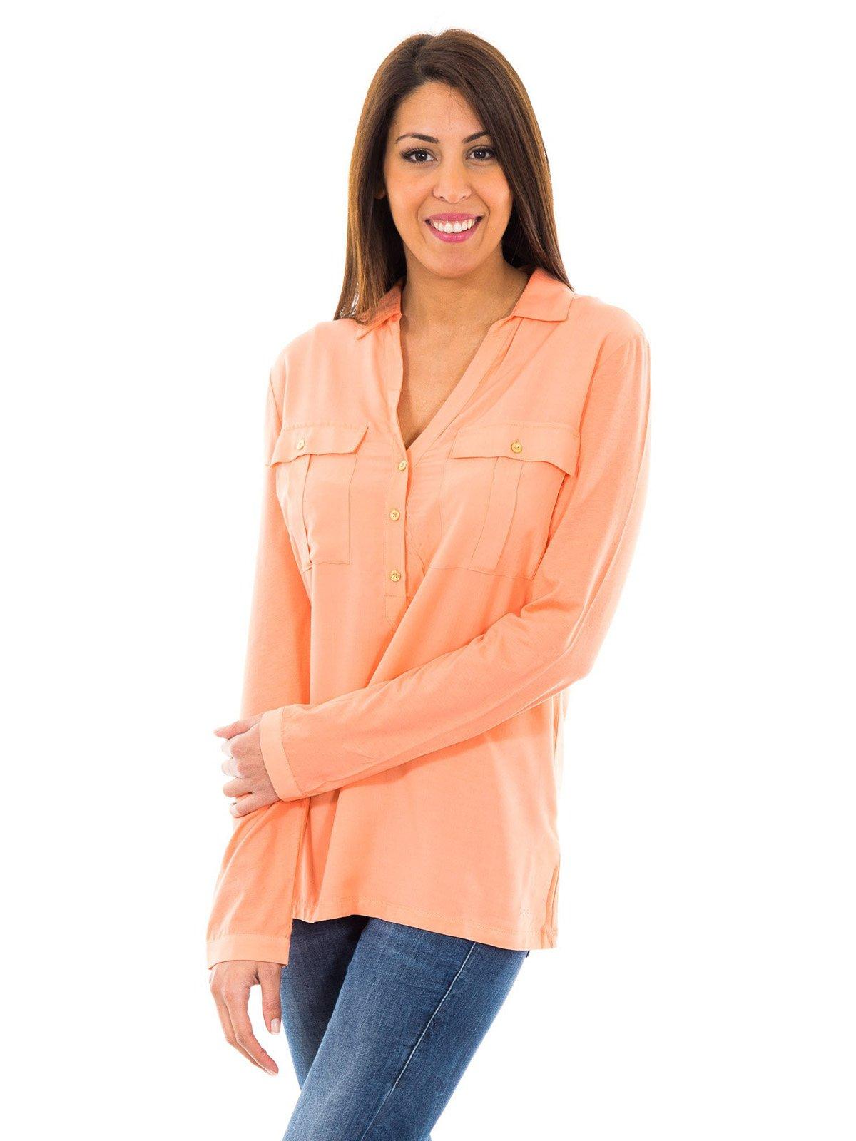Блуза светло-коралловая | 2420717