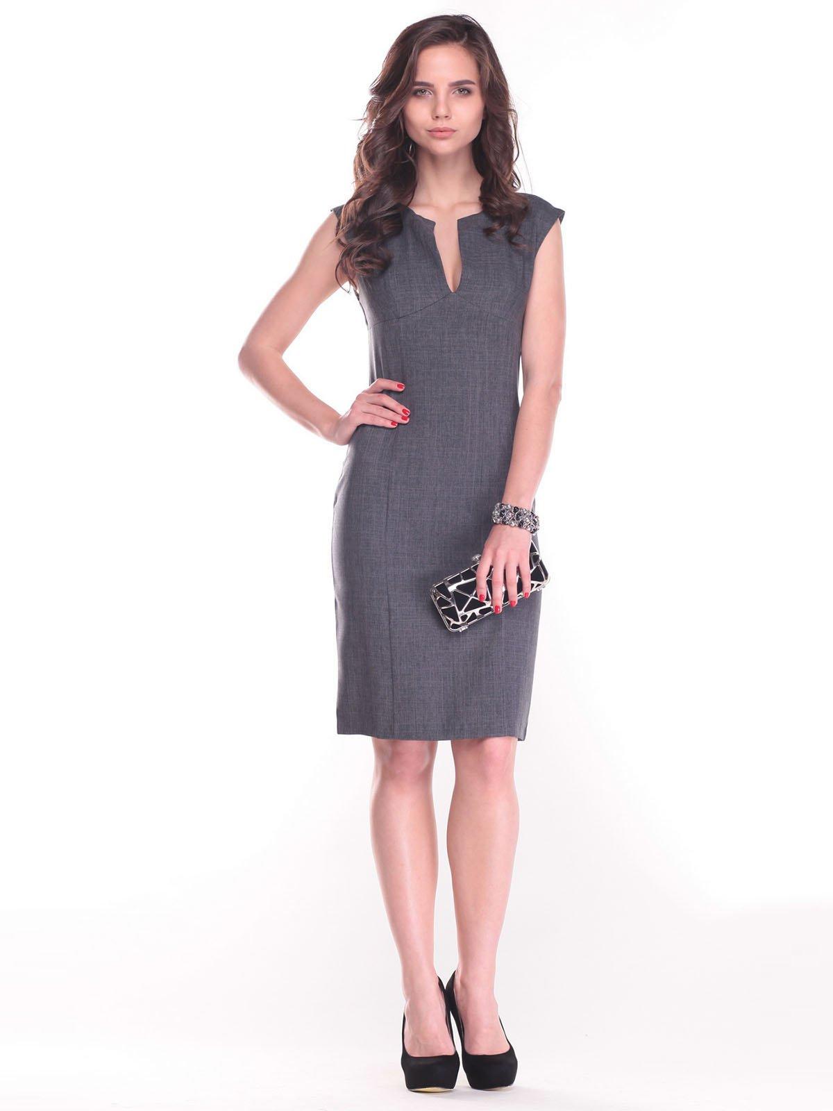 Платье-сарафан графитового цвета   2434419
