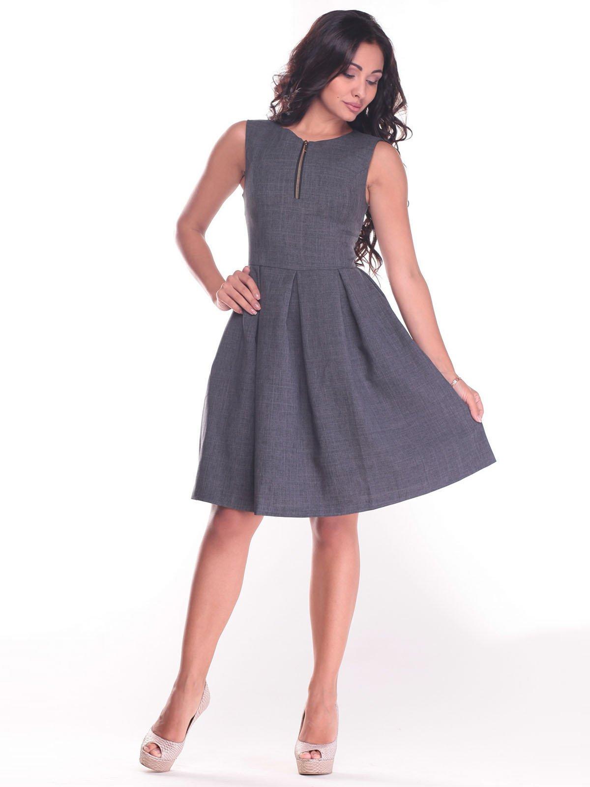Платье графитового цвета | 2434427 | фото 4