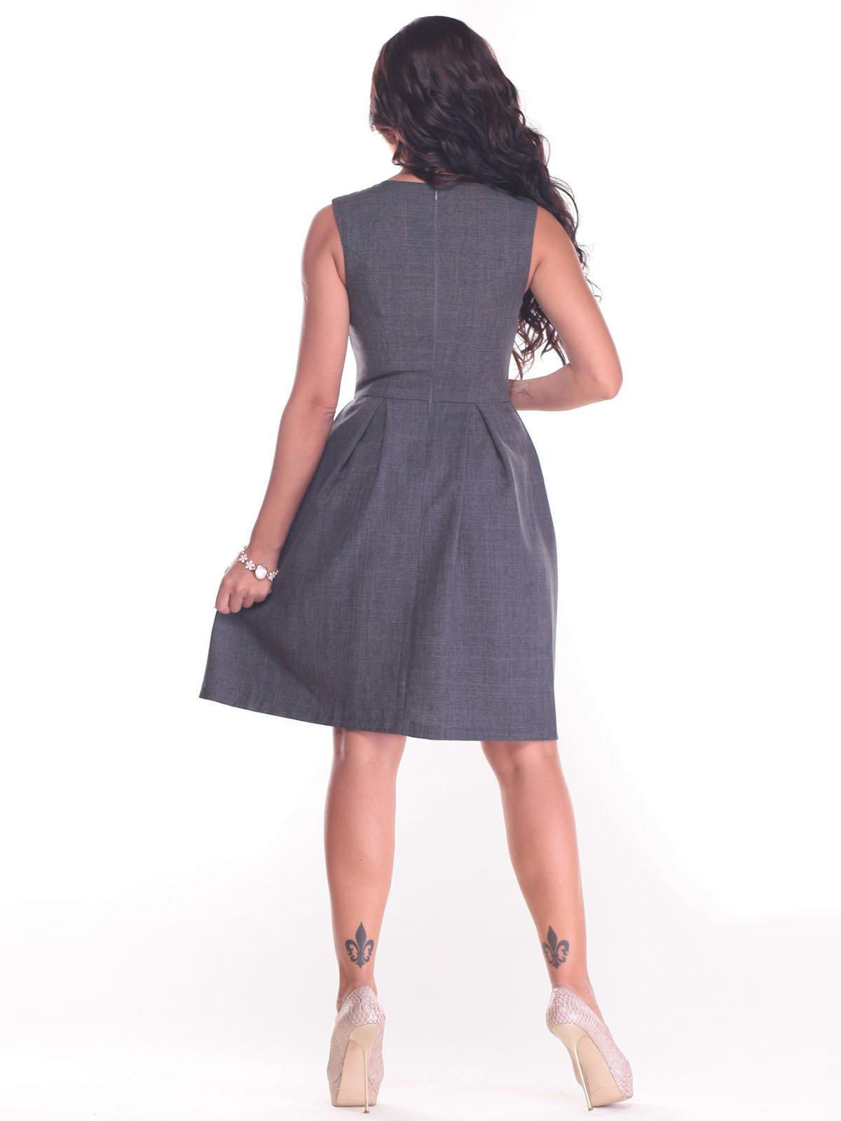 Платье графитового цвета | 2434427 | фото 2