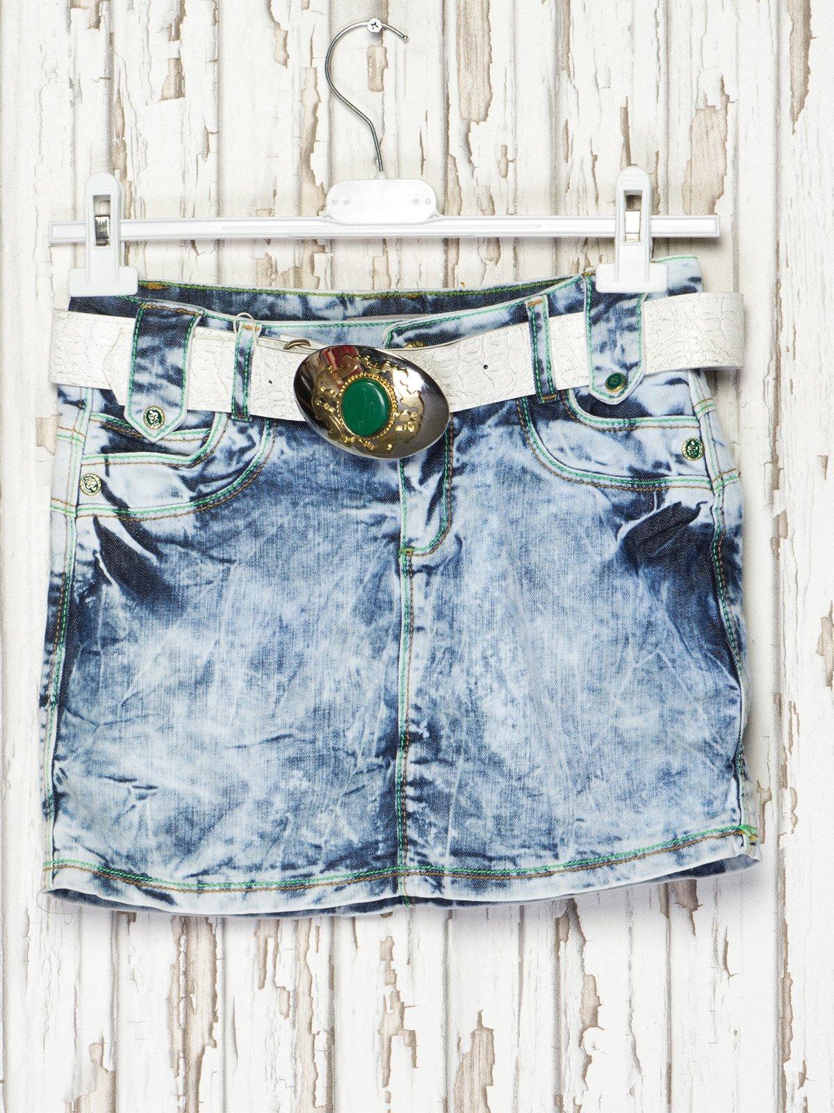 Спідниця синя джинсова | 2386943