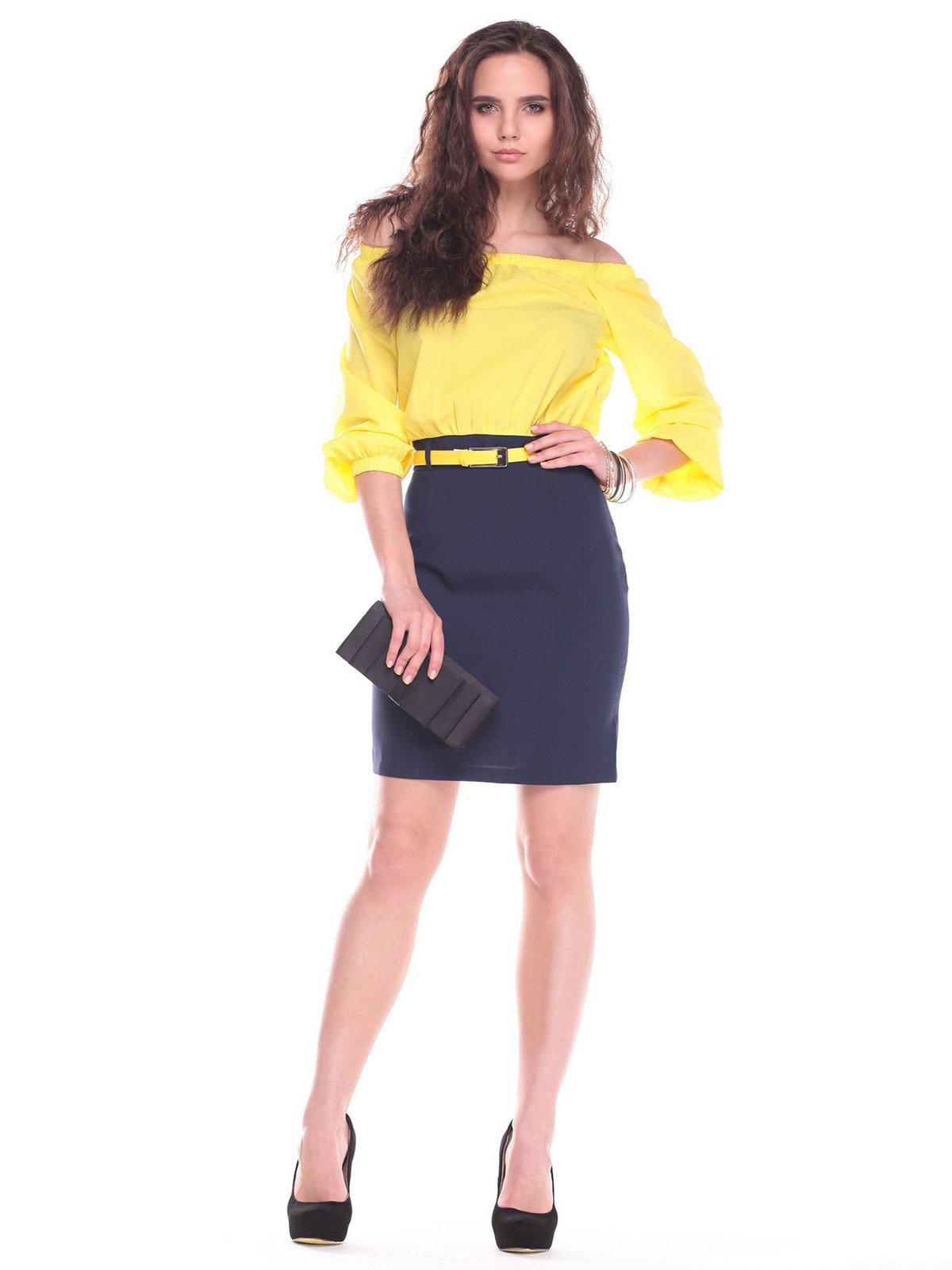 Платье желто-синее   2434512
