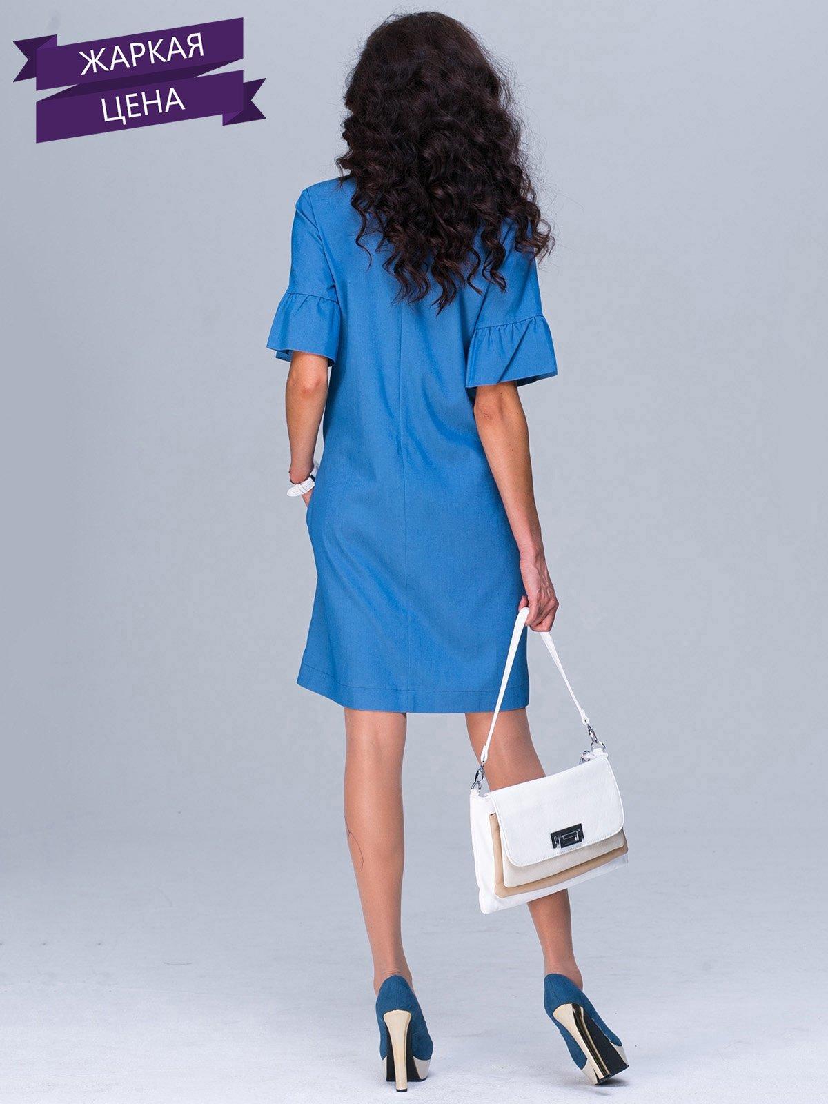 Платье синее | 2463608 | фото 3