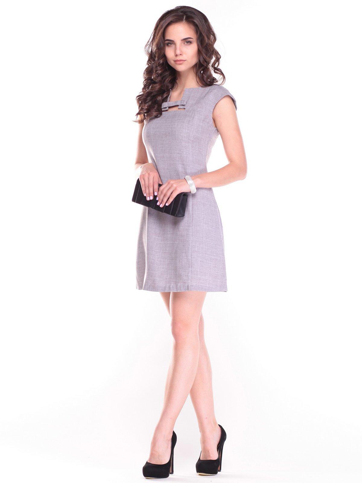 Платье бежево-серое | 2484713
