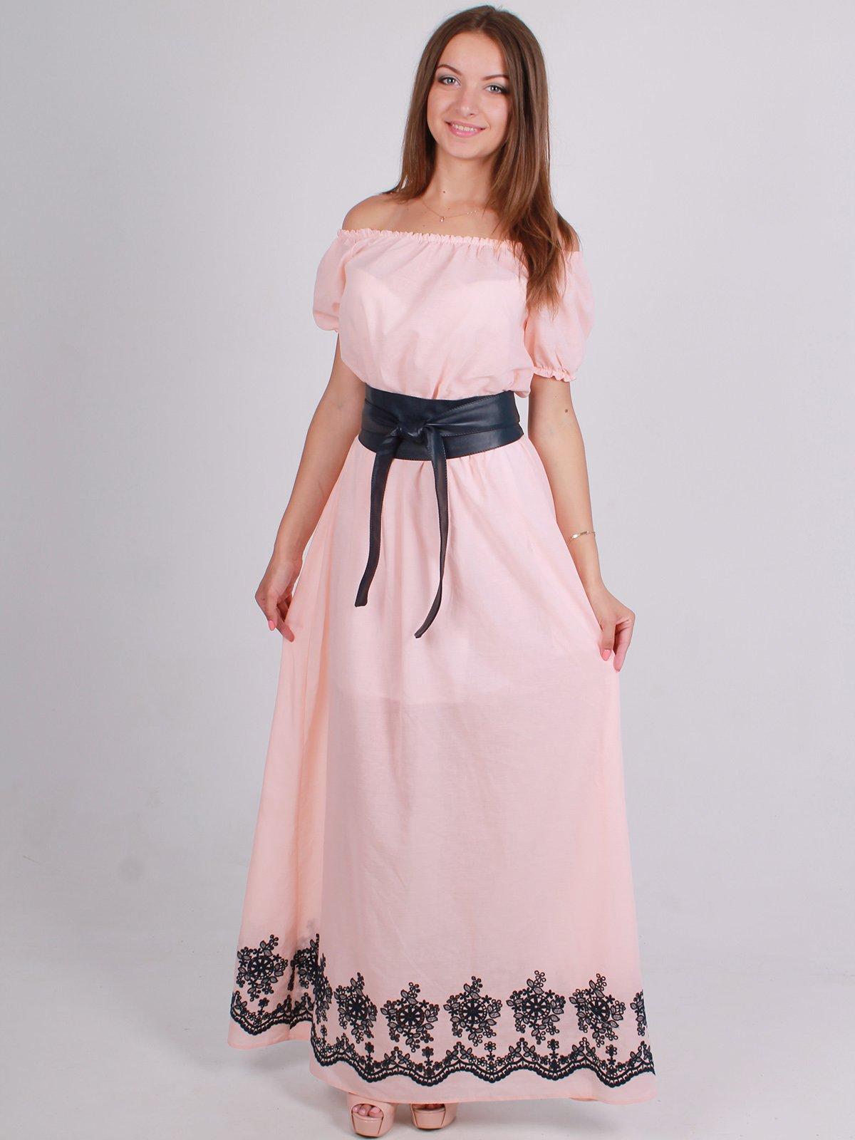 Платье розовое с принтом | 2495305