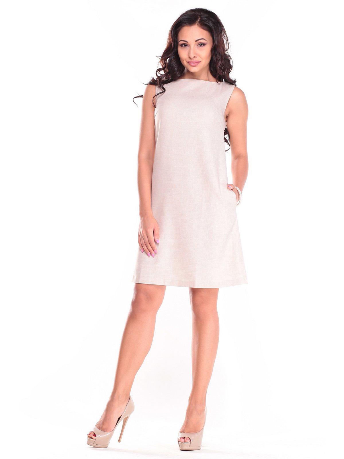 Платье-сарафан бежевое | 2495499