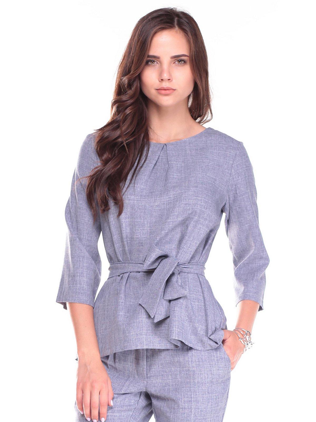 Блуза кольору фіолетового серпанку | 2495606