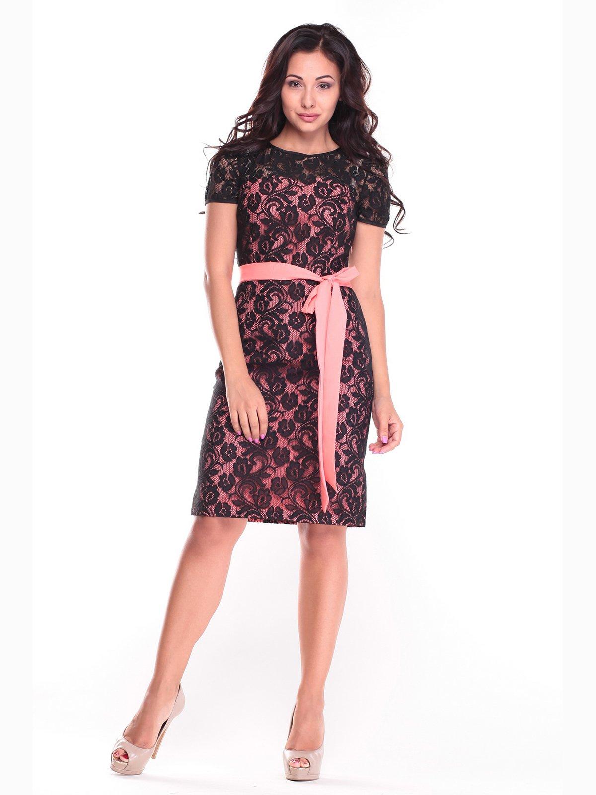 Сукня персиковог-чорного кольору | 2472748