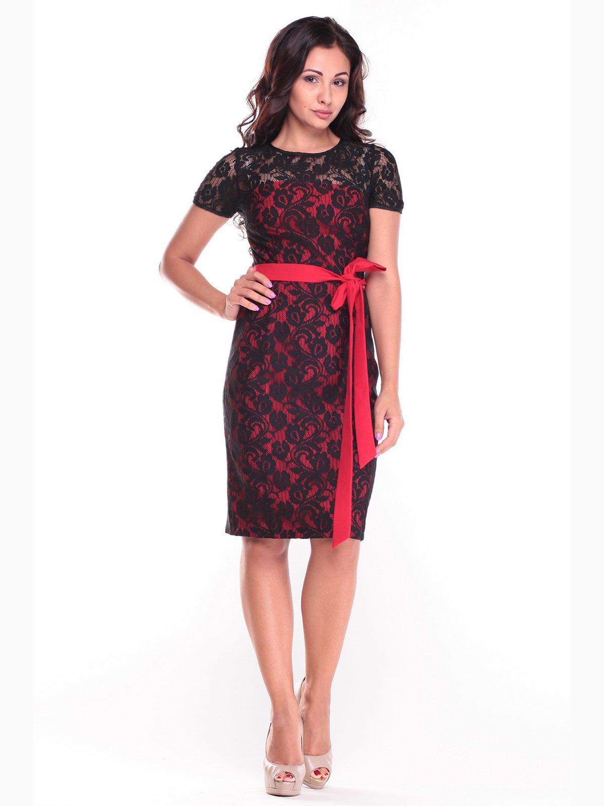 Сукня червоно-чорна | 2472750