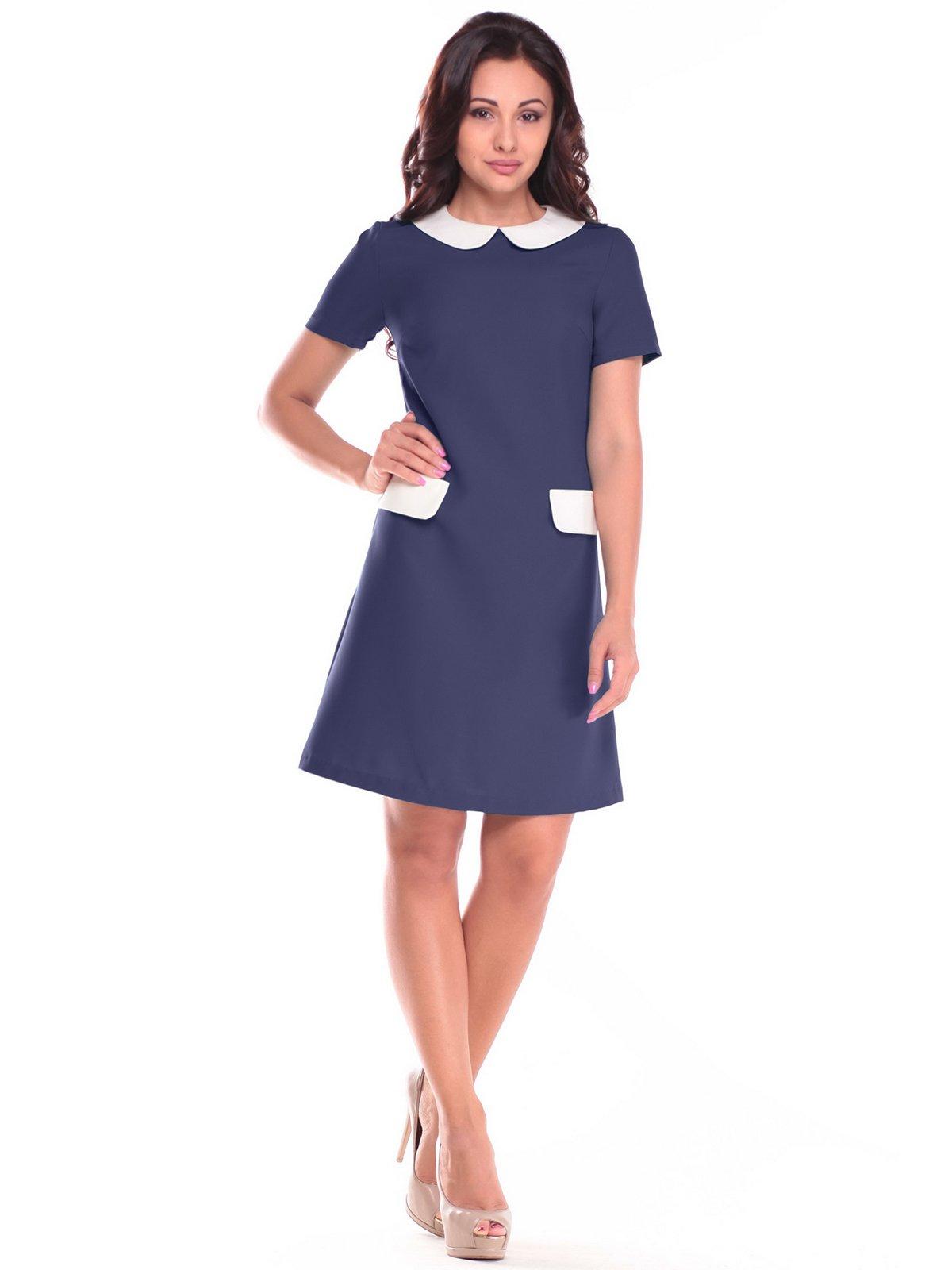 Платье сине-молочного цвета | 2505965