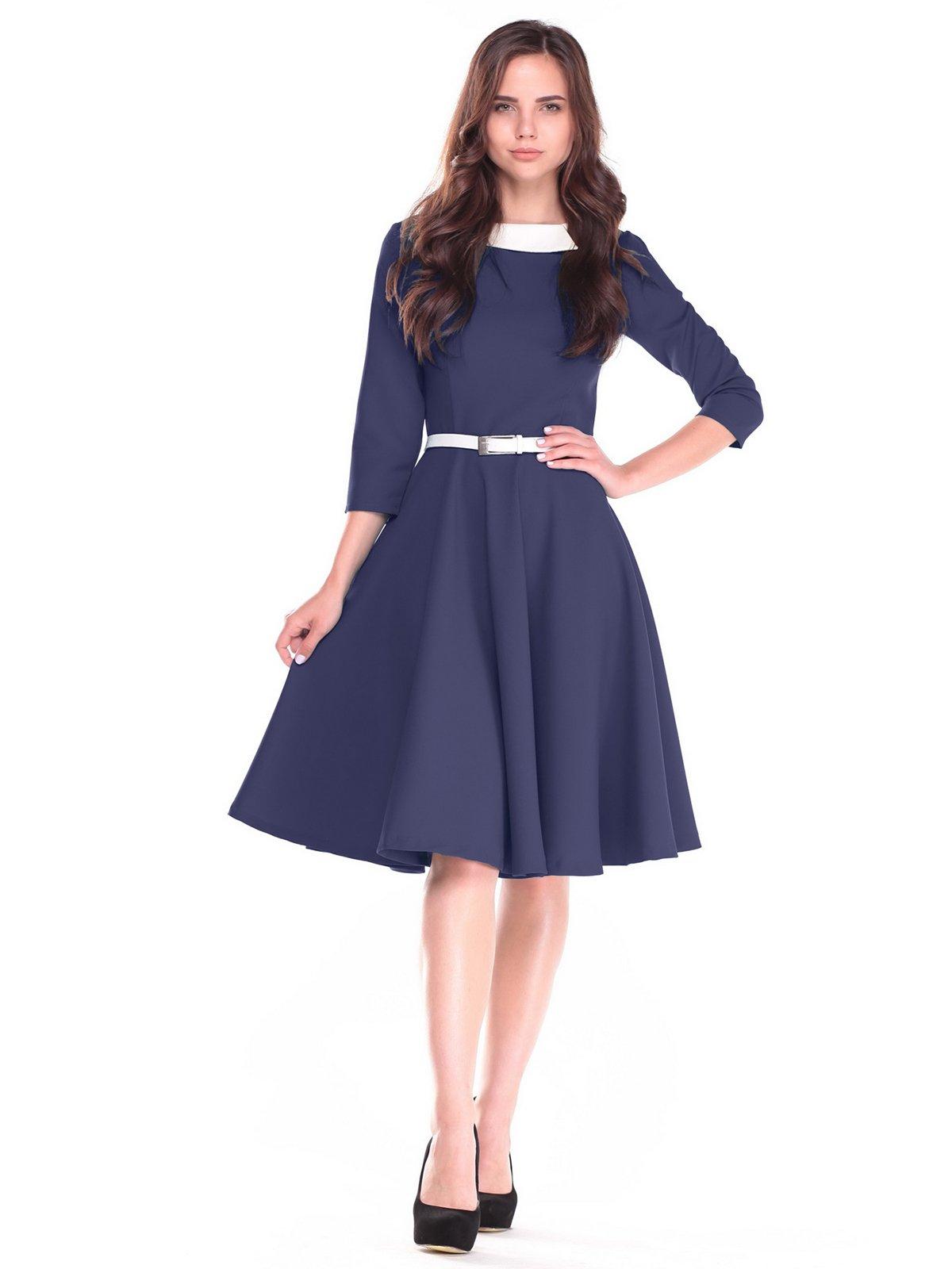 Платье сине-молочного цвета | 2507347