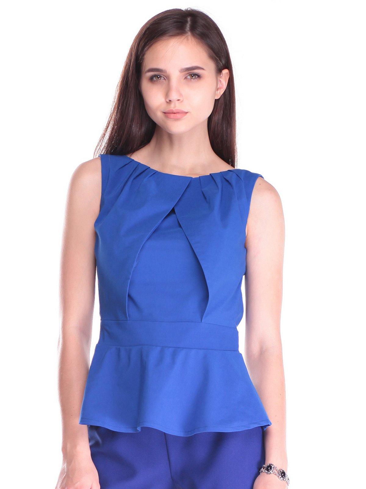 Блуза кольору електрик | 2453261