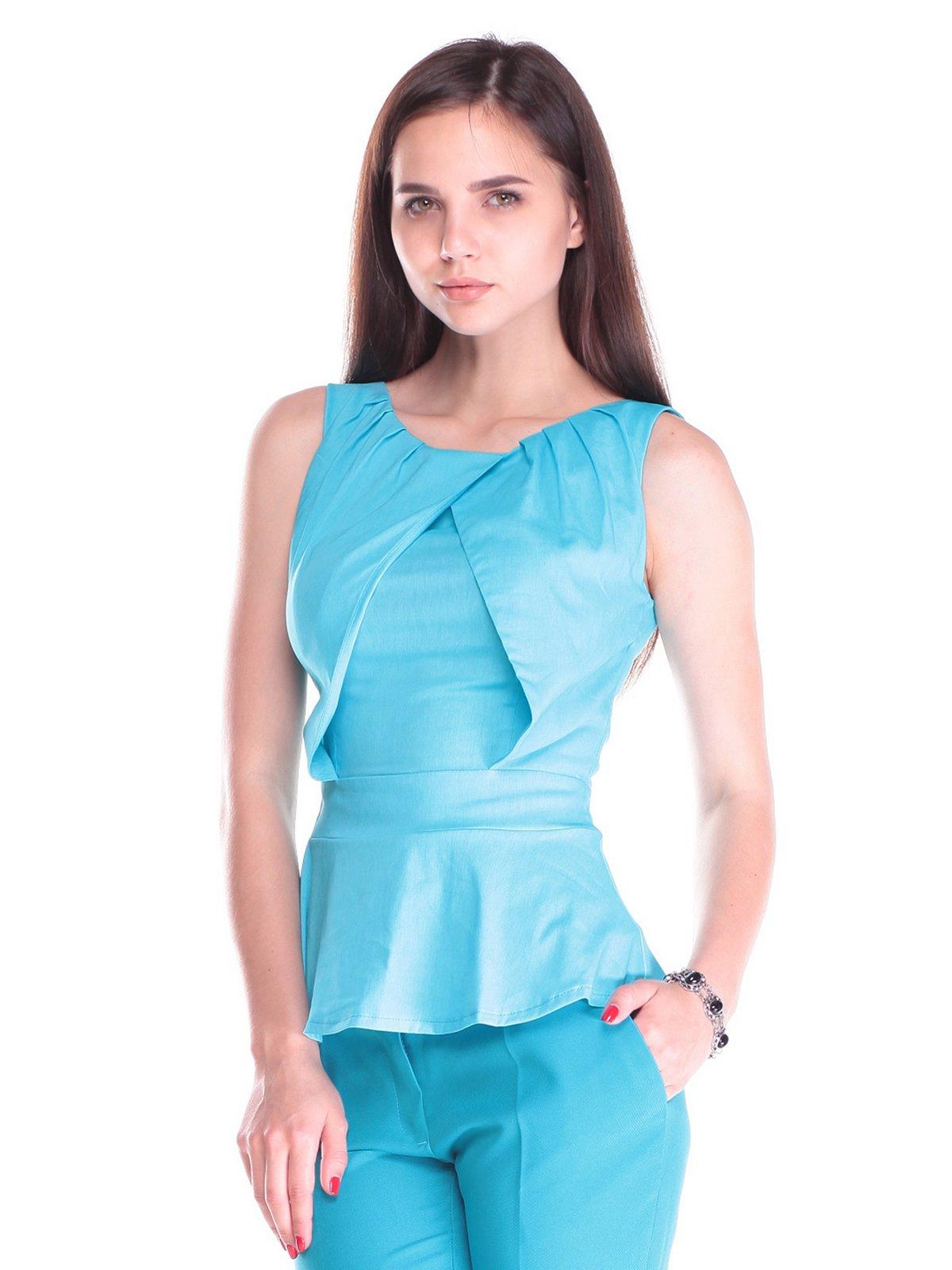 Блуза блакитна | 2453262
