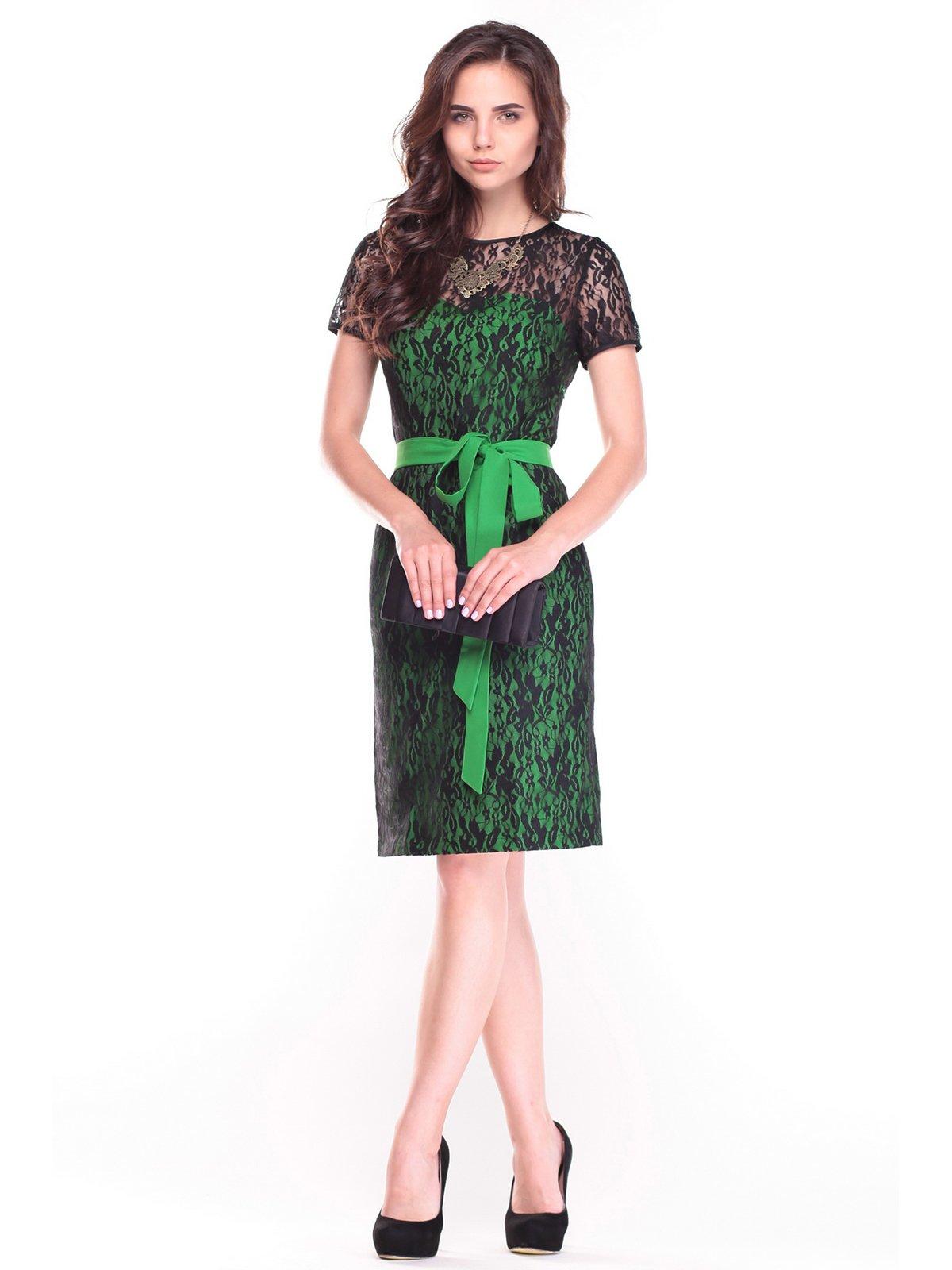 Сукня зелено-чорна | 2472749
