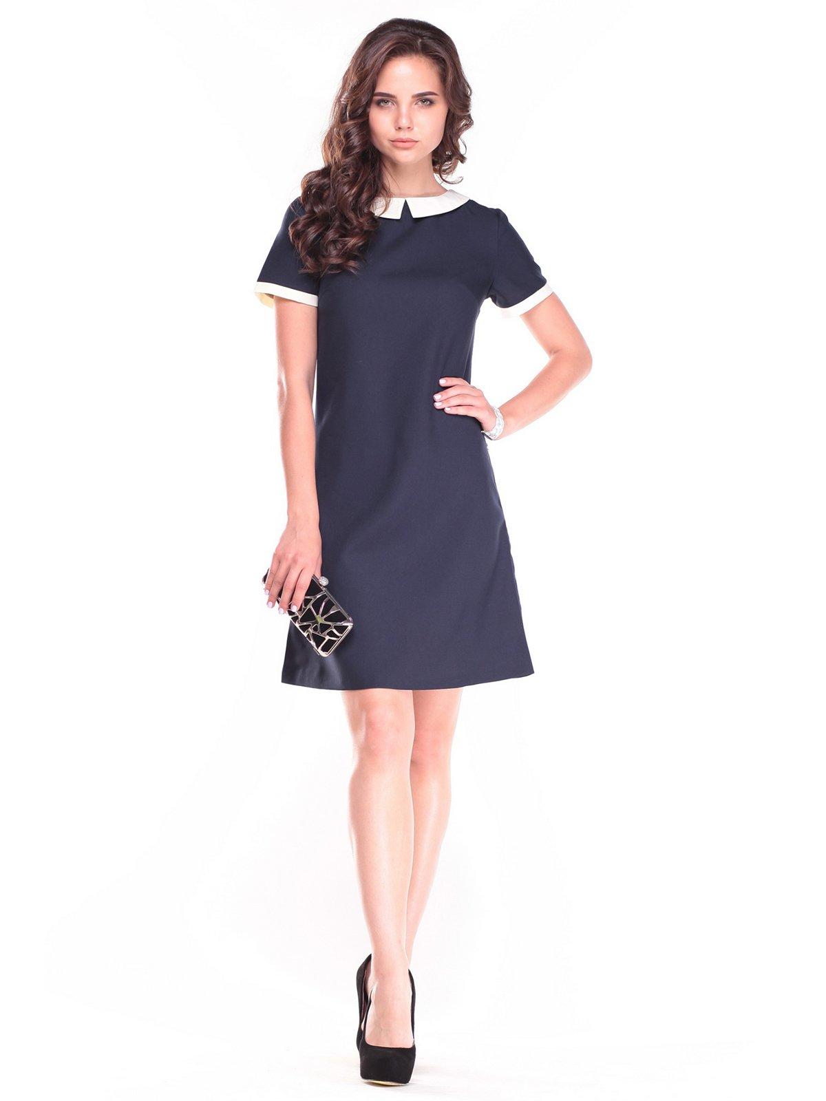 Платье сине-молочного цвета | 2507305
