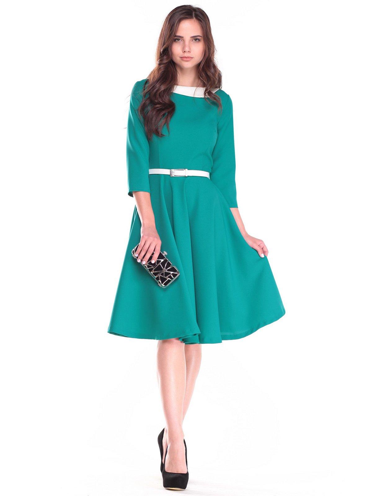 Платье зелено-молочного цвета | 2507341