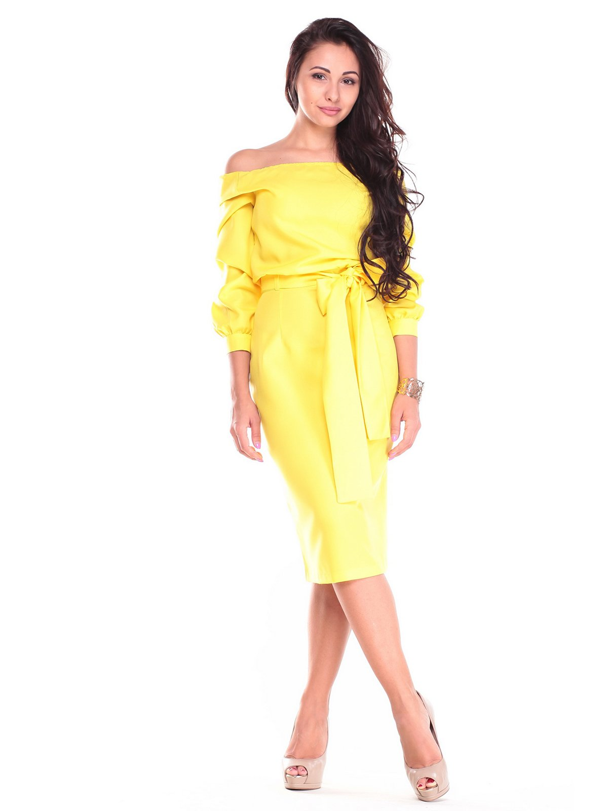 Платье солнечного цвета | 2507403