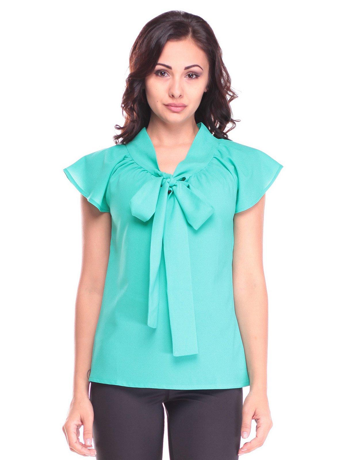 Блуза ментолового кольору | 2536099