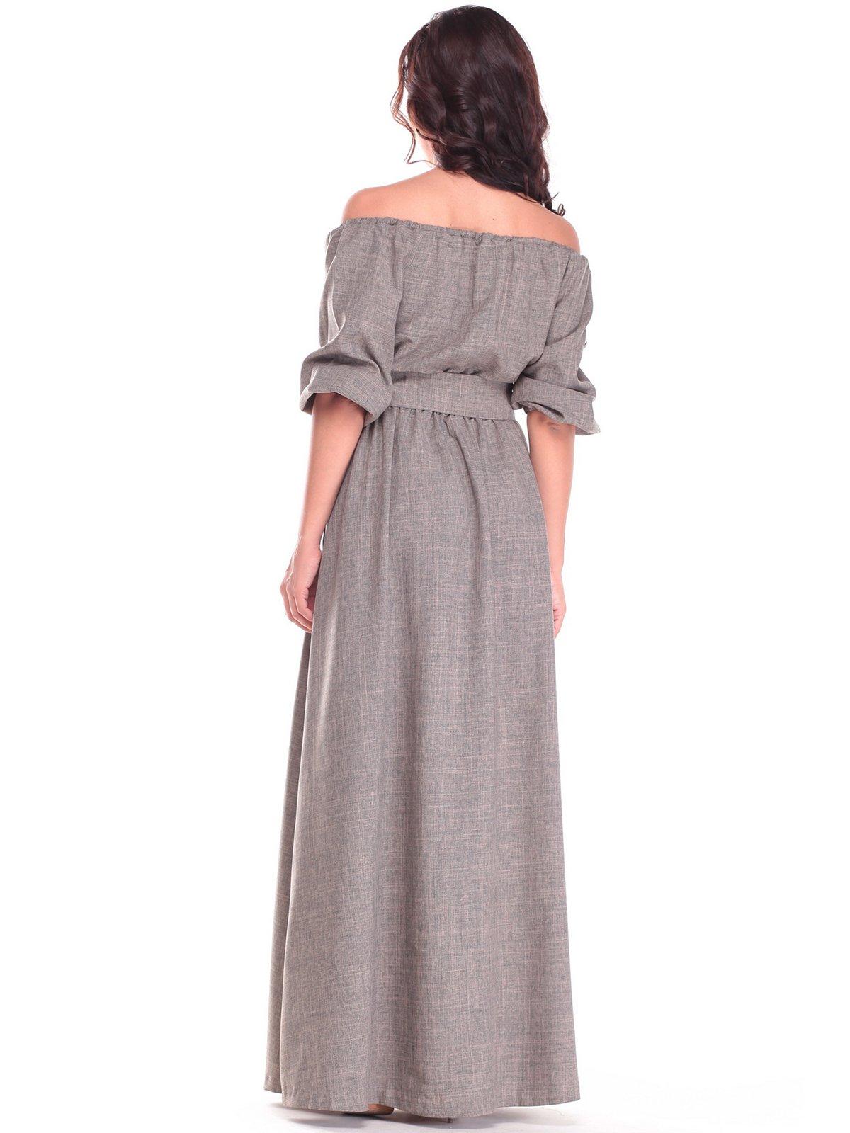 Платье цвета хаки | 2536479 | фото 2