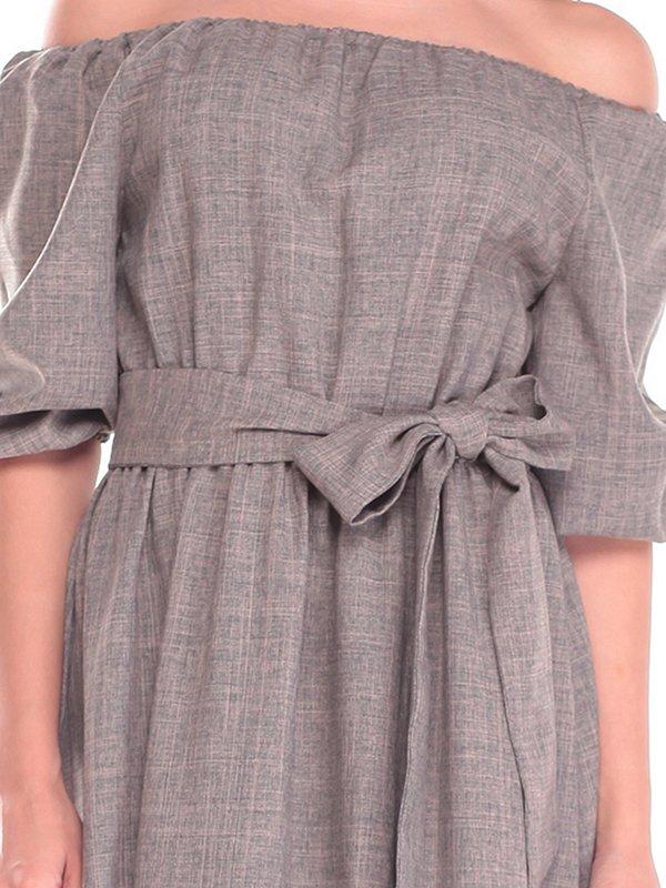 Платье цвета хаки | 2536479 | фото 3