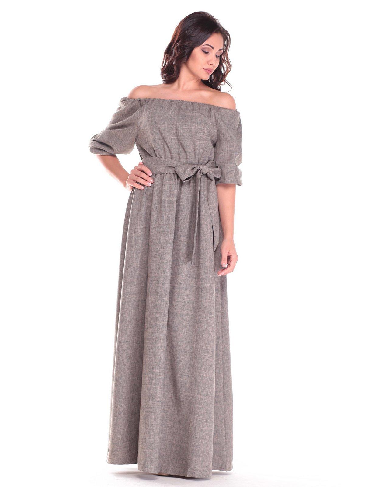 Платье цвета хаки | 2536479 | фото 5