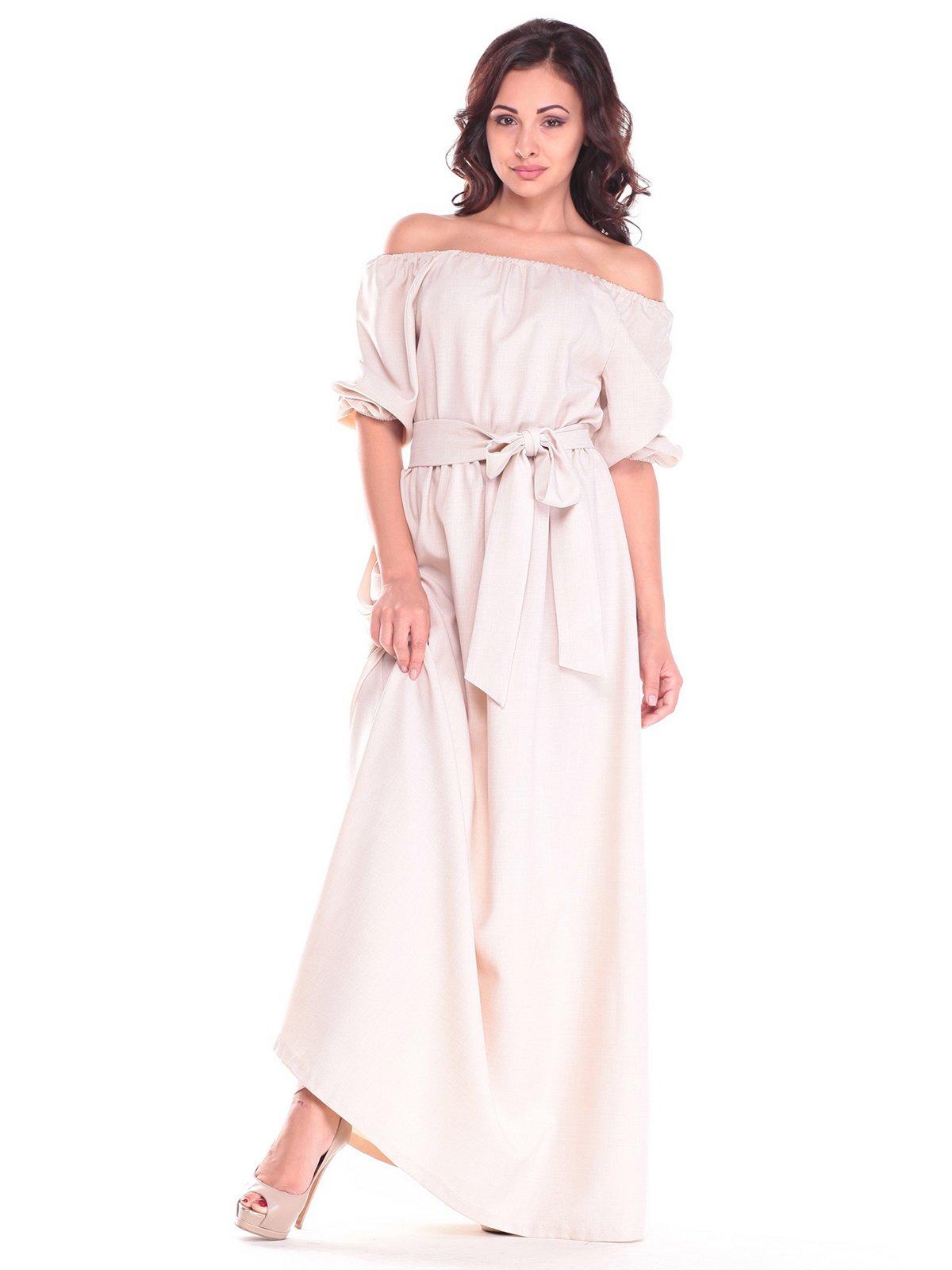 Платье светло-бежевое | 2536480