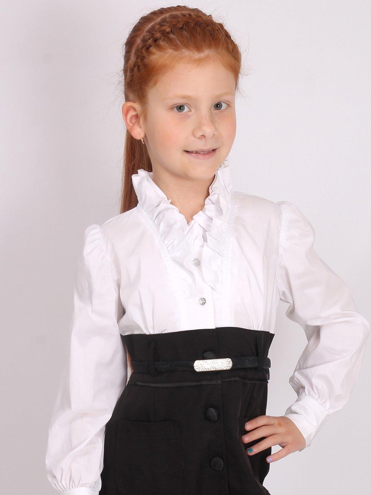 Сарафан черно-белый школьный | 2552090