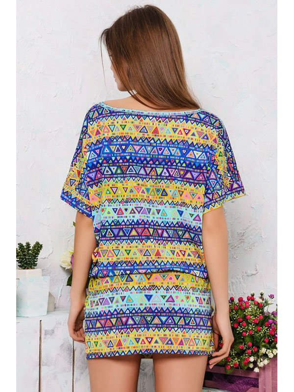 Платье разноцветное в принт | 2559530 | фото 3